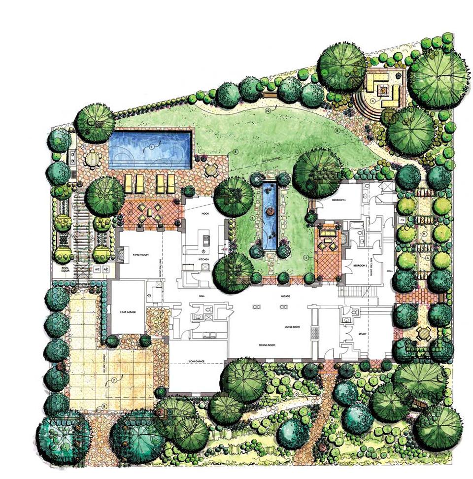 طراحی محوطه و فضای سبز و بام سبز